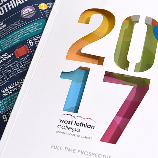 Design of prospectus for West Lothian College