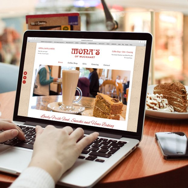 Website design and build for Mona's of Muckhart