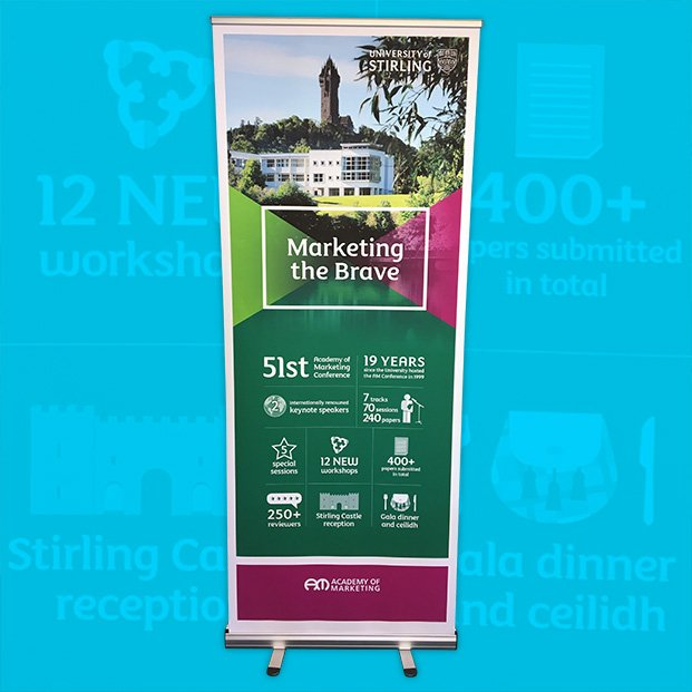 Pop Up banner design and for the University of Stirling