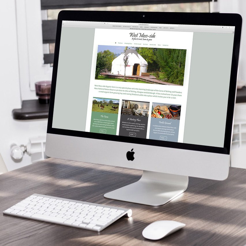 Website design and build for West Moss-side Farm