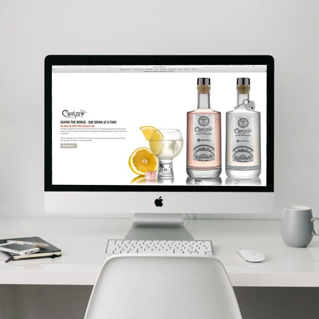 Website design and build for Chastity No Sin-Gin