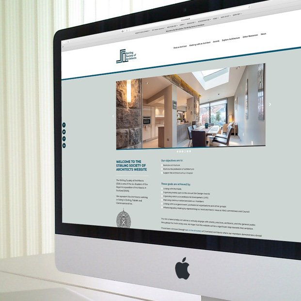 Website design and build for the Stirling Society of Architects