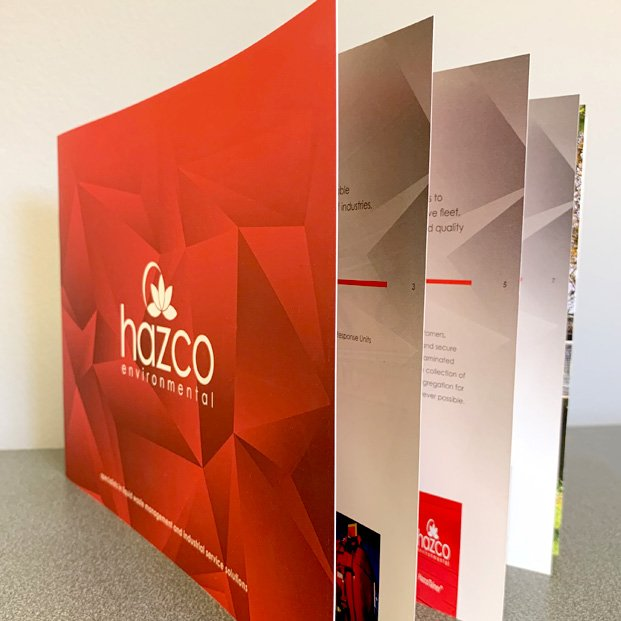 Brochure design for Hazco Environment Ltd