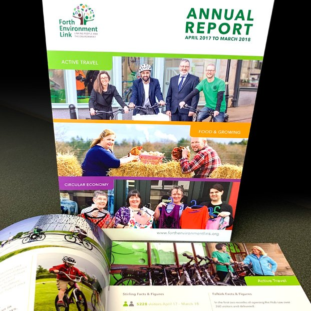 Annual report design for Forth Environment Link