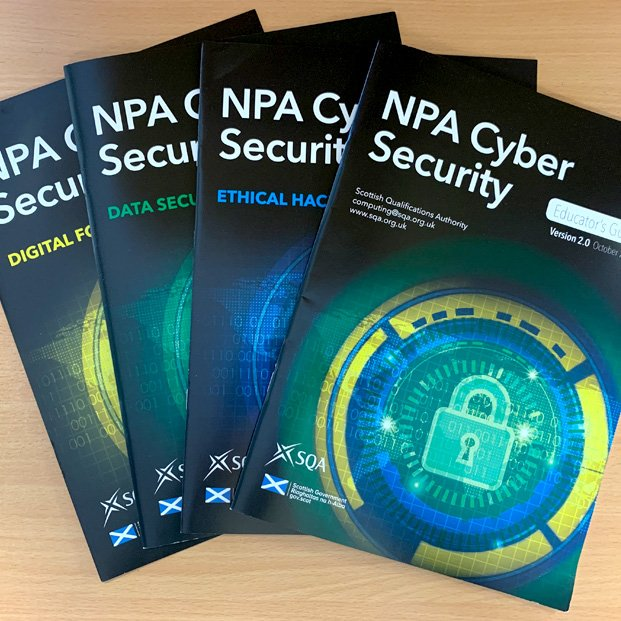 NPA Cyber Security design of suite of leaflets for SQA
