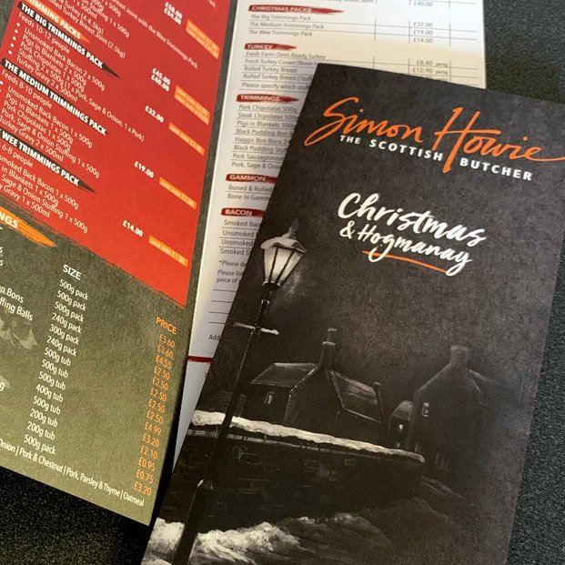 Christmas & Hogmanay Brochure design for Simon Howie