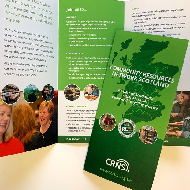 Membership leaflet design for CRNS