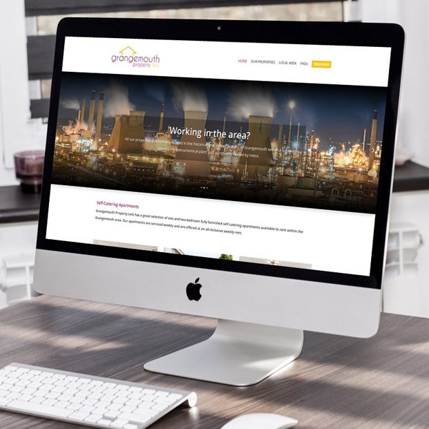 Website design and build for the Grangemouth Property Lets