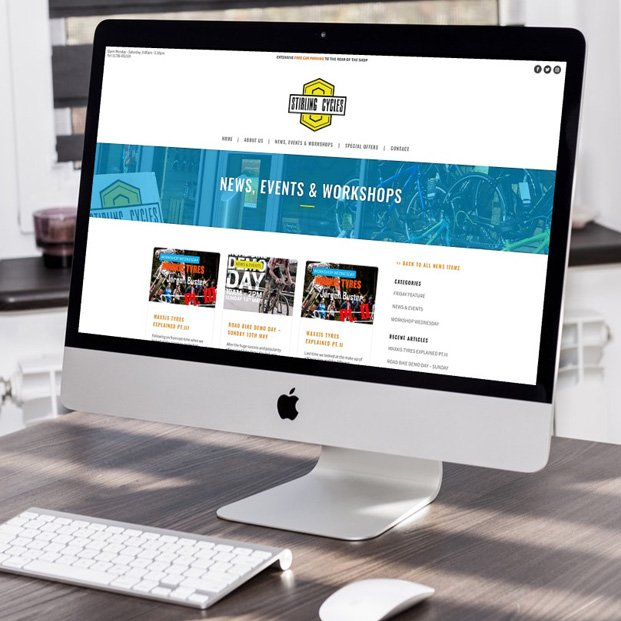 Website design and build for Stirling Cycles