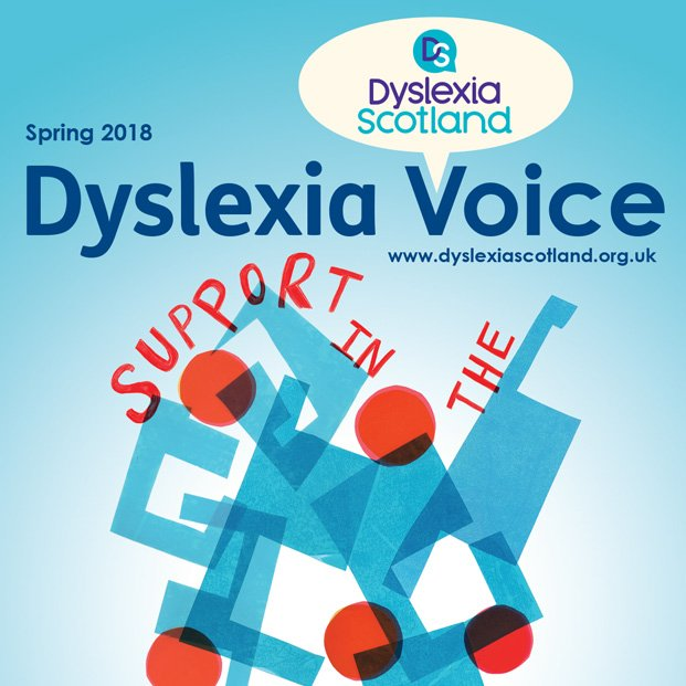 Magazine design for Dyslexia Scotland