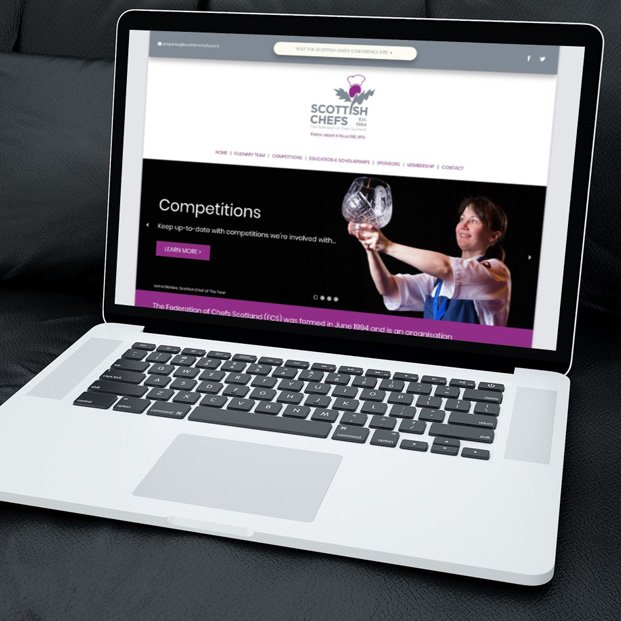 Website design and build for Scottish Chefs