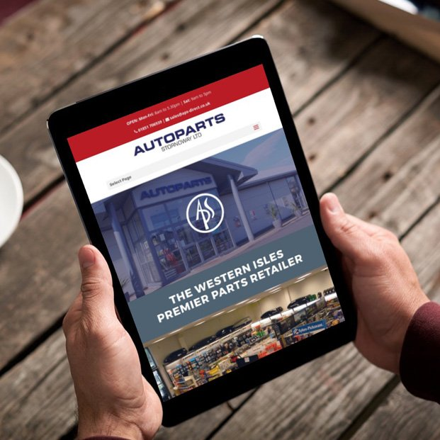 Website design and build for the Autoparts Stornoway